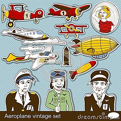 Aeropalane vintage set
