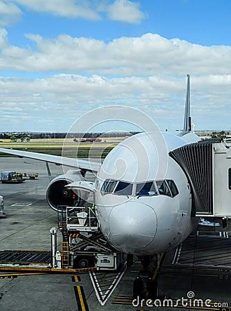 Free Aeroplane At Arrival Terminal Aerobridge Stock Photo - 52829960