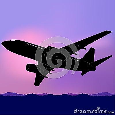 Aeroplane Silhouette 02