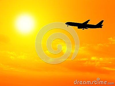 Aeroplane and sky
