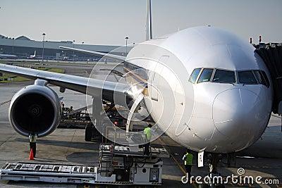 Aeroplane In Transit