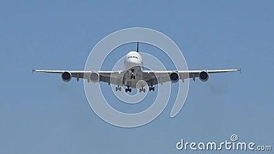 Aeroplano del getto video d archivio
