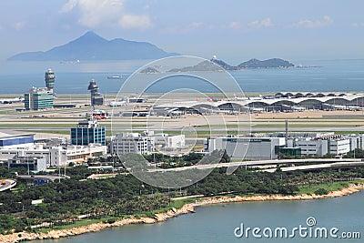Aeroporto internacional de Hong Kong Fotografia Editorial