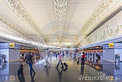 Aeropuerto de JFK Fotografía editorial