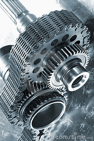 Free Aerospace Gears And Timing Chain Royalty Free Stock Photos - 22897448
