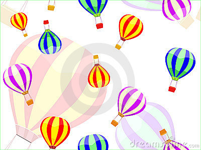 Aerostat and ballon seamless pattern