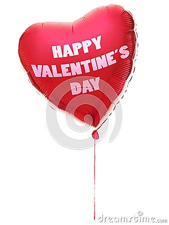 Aerostato del cuore di giorno dei biglietti di S. Valentino