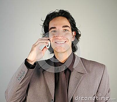 Affärsmanmobiltelefon