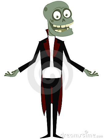 The affable zombie in a dress coat