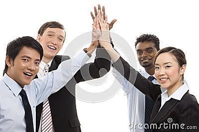 Affaires de groupe - hauts cinq