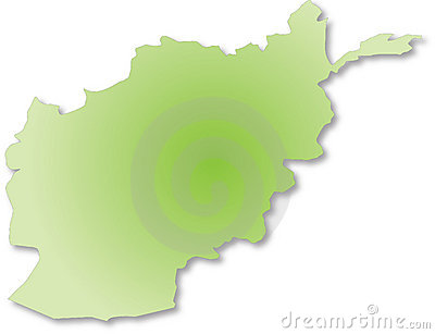Afganistan outile map