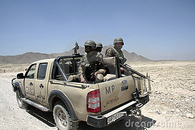 Afghan Army Military Police Editorial Stock Image