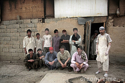 Afghan Bakery Workers Editorial Image