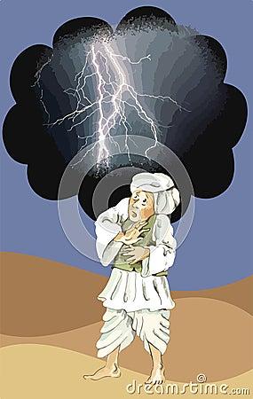 Afghan man afraid of lightning