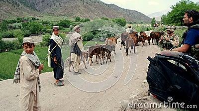 Afghan peasants in Afghanistan Editorial Image
