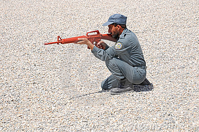Afghan policemen s training 3 Editorial Stock Image
