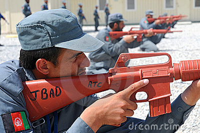Afghan policemens training 4 Editorial Photography