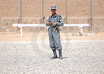 Afghan policemen s training 5 Editorial Photography