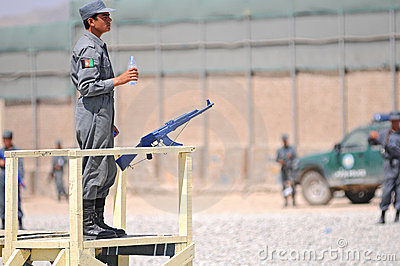 Afghan policemen s training 6 Editorial Photo