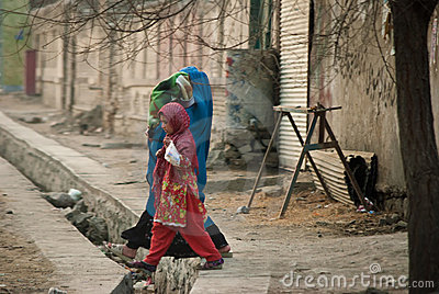 Afghan Woman and girl Editorial Photography