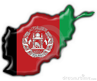 Afghanistan button flag map shape