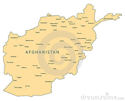 Afghanistan vector map