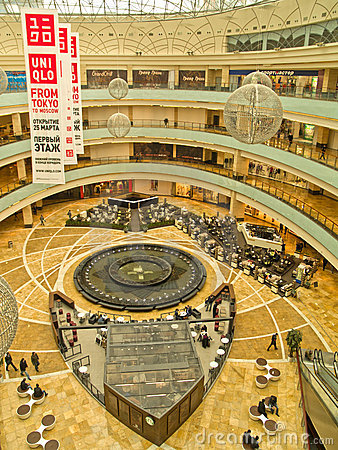 Free AFI Mall, Moscow, Russia, April 21, 2011 Royalty Free Stock Photo - 19350665