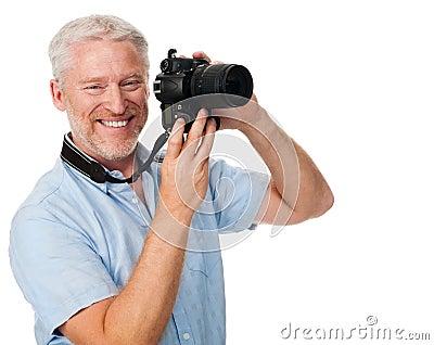 Afición del hombre de la cámara
