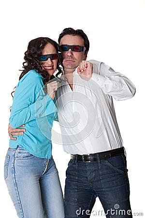 Afraid couple