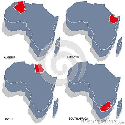 Africa 3d map
