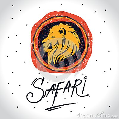 Free Africa And Safari Logo With The Lion Stock Photo - 116515290
