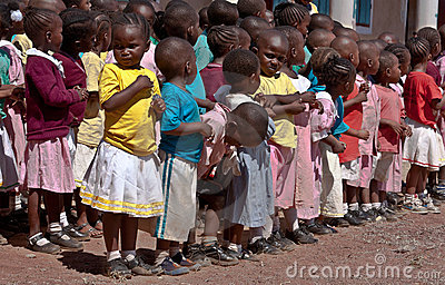 africa,Children at school in Malindi, Kenya Editorial Stock Image