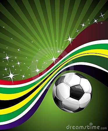 Africa chorągwianego futbolu znaka południe