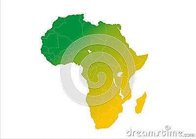 Africa Continent Gradation