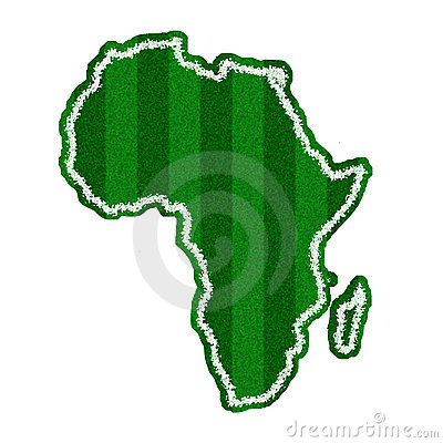 Africa Green Soccer Field Shape for FIFA WORLD CUP