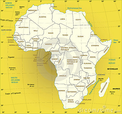 Africa Map.