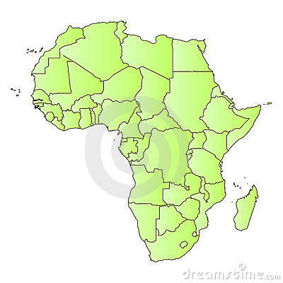 Africa map outline of states
