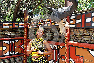 Africa południowy kobiety zulu Fotografia Editorial