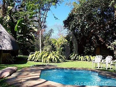 Africa Safari camp with pool