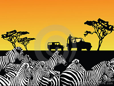 Africa safari vector