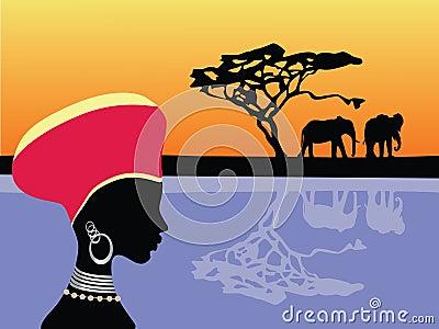 Africa scene
