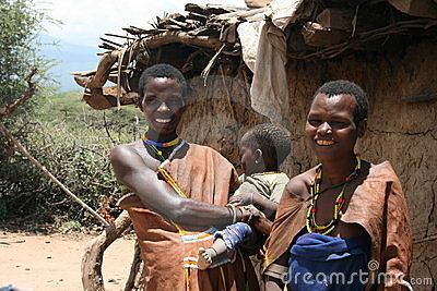 Africa,Tanzania, families people Datoga Editorial Image