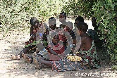 Africa,Tanzania,families women Editorial Photo