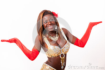 African-american Belly Dancer In Cute Pose Royalty Free Stock Photo - Image: 25710655