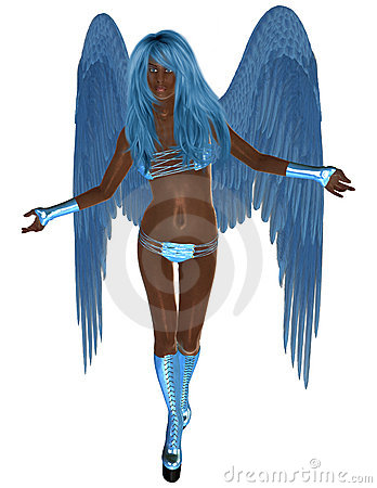African American Blue Angel