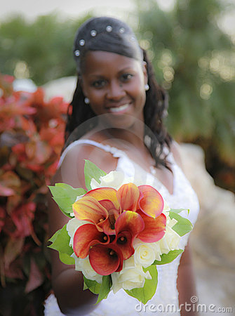 Free African American Bride Stock Photography - 13350642