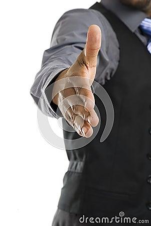 African american business handshake