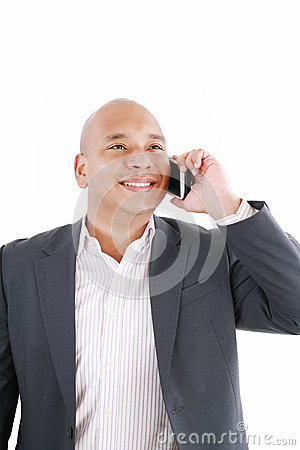 African American business man talking