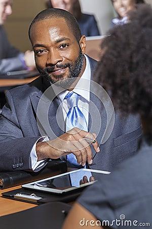 African American Businessman in Meeting