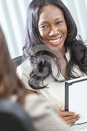 African American Businesswoman Tablet Computer